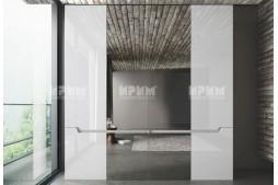 Четирикрилен Гардероб Noir - с огледало