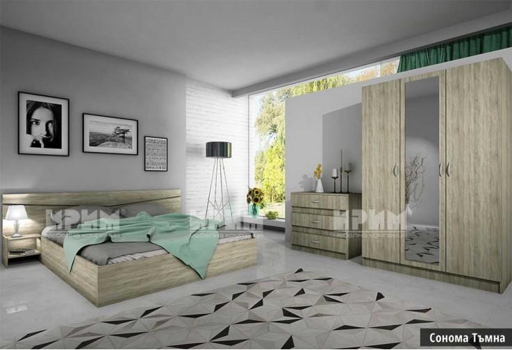 Спален комплект СИТИ 7000 - Дъб Сонома