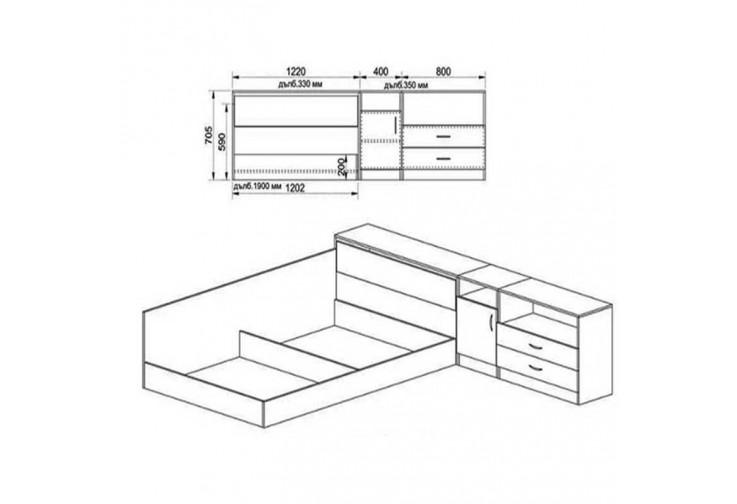Спален комплект СИТИ 7003 - ПРИСТА