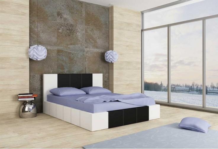 Тапицирано легло Казабланка - бял мат и черен мат
