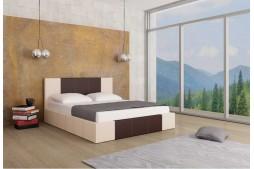 Тапицирано легло Казабланка - крем мат и кафяво мат