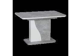 Разтегателна трапезна маса SIRIUS - бял / бетон