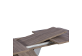 Разтегателна трапезна маса EXEL - дъб трюфел / алуминий