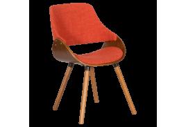 Трапезен стол КАРМЕН 9973 - орех / оранжев