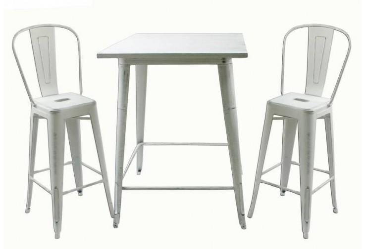 Бар маса Linda Antic Бяло