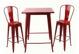 Бар маса Linda червено
