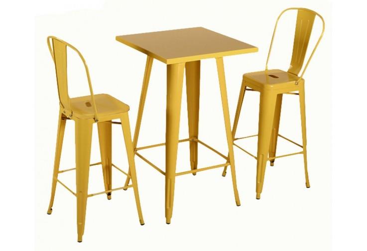 Бар маса Linda жълто