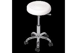 Табуретка с колелца КАРМЕН 3075 - бял