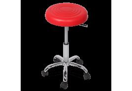 Табуретка с колелца КАРМЕН 3075 - червен