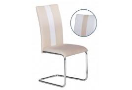Трапезен стол К279 Бяло и Крем